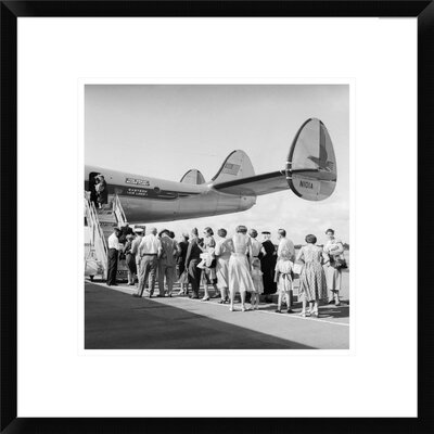 Passengers Waiting to Board, 1950s by C.S. Bauer Framed Photographic Print Size: 18