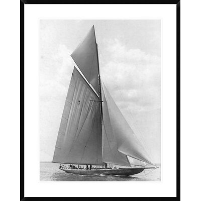 "The Vanitie During the America's Cup, 1910 by Edwin Levick Framed Photographic Print Size: 38"" H x 30"" W x 1.5"" D DPF-375529-2432-266"