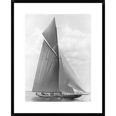"The Vanitie During the America's Cup, 1910 by Edwin Levick Framed Photographic Print Size: 30"" H x 24"" W x 1.5"" D DPF-375529-1824-266"