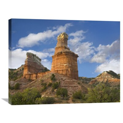 Nature Photographs Rock Formation Called the Lighthouse, Palo Duro Canyon State Park, Texas Photographic Print on Canvas Size: 24