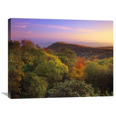 Nature Photographs Blue Ridge Mountains with Deciduous Forests in Autumn North Carolina by Tim Fitzharris Photographic Print on Wrapped Canvas GCS-396763-2432-142