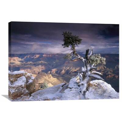 Nature Photographs South Rim of Grand Canyon with a Dusting Of Snow Seen from Yaki Point, Grand Canyon National Park, Arizona by Tim Fitzharris Photographic Print on Canvas Size: 24
