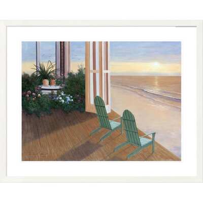 'Coastal Summer House' by Diane Romanello Framed Graphic Art DPF-128570-2432-260