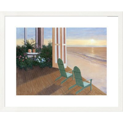 'Coastal Summer House' by Diane Romanello Framed Graphic Art DPF-128570-1824-260