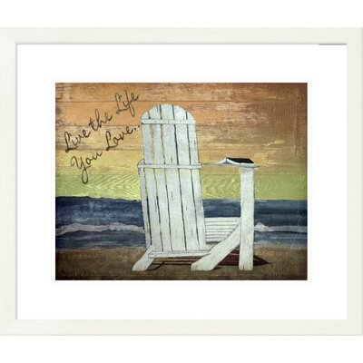 'Coastal Reading on The Beach' by Karen J. Williams Framed Painting Print Size: 24