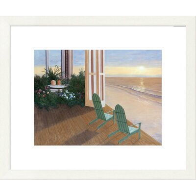 'Coastal Summer House' by Diane Romanello Framed Graphic Art DPF-128570-1216-260