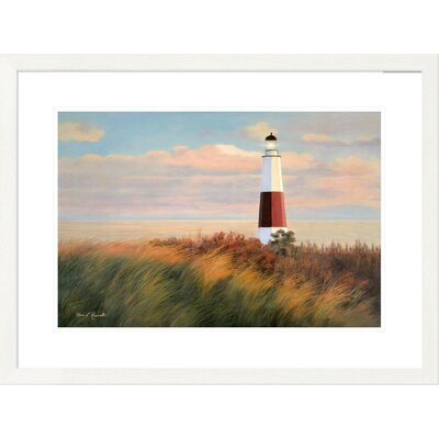 "'Coastal Ray of Light' by Diane Romanello Framed Graphic Art Size: 24"" H x 32"" W x 1.5"" D DPF-393975-1624-260"