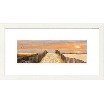 'Coastal Beach Walk' by Diane Romanello Framed Painting Print Size: 14