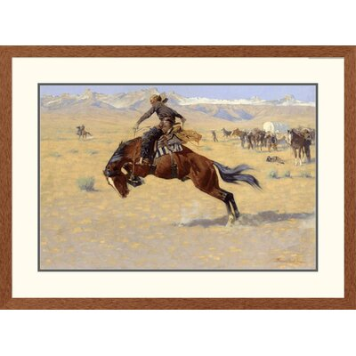 'Western A Cold Morning on The Range' by Frederic Remington Framed Painting Print Size: 28.04