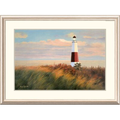 "'Coastal Ray of Light' by Diane Romanello Framed Graphic Art Size: 28"" H x 38"" W x 1.5"" D DPF-393975-2030-279"