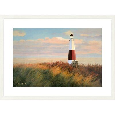 "'Coastal Ray of Light' by Diane Romanello Framed Graphic Art Size: 28"" H x 38"" W x 1.5"" D DPF-393975-2030-260"