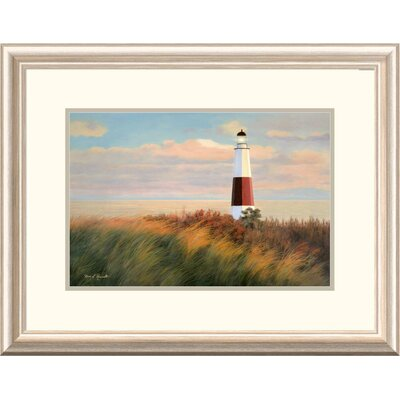 "'Coastal Ray of Light' by Diane Romanello Framed Graphic Art Size: 20"" H x 26"" W x1.5"" D DPF-393975-1218-279"