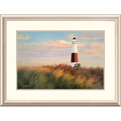 "'Coastal Ray of Light' by Diane Romanello Framed Graphic Art Size: 24"" H x 32"" W x 1.5"" D DPF-393975-1624-279"