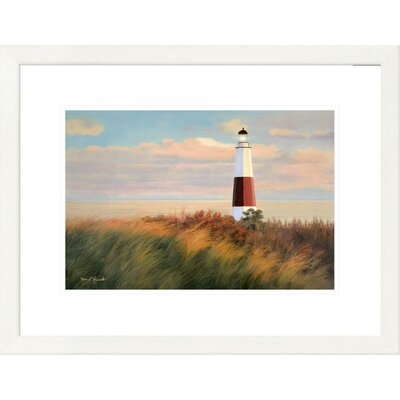 "'Coastal Ray of Light' by Diane Romanello Framed Graphic Art Size: 20"" H x 26"" W x 1.5"" D DPF-393975-1218-260"