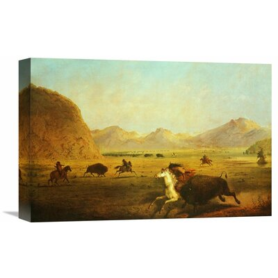 'Buffalo Hunt' by Alfred J. Miller Painting Print on Wrapped Canvas Size: 24