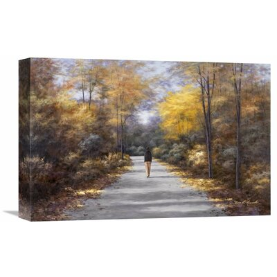'Quiet Walk' by Diane Romanello Painting Print on Wrapped Canvas Size: 24