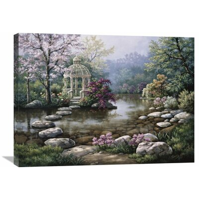 'Gazebo' by Sung Kim Painting Print on Wrapped Canvas Size: 24