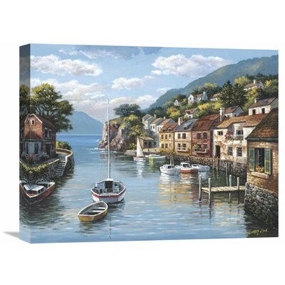 'Village On The Water' by Sung Kim Painting Print on Wrapped Canvas Size: 18