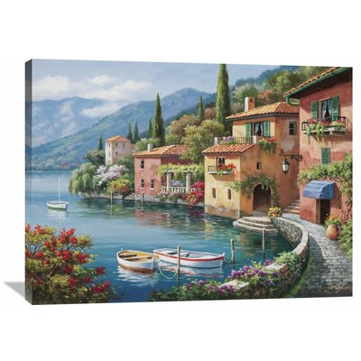 'Villagio Dal Lago' by Sung Kim Painting Print on Wrapped Canvas Size: 30