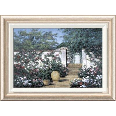 'Jardin de Fleur' by Diane Romanello Framed Painting Print GCF-393937-1218-282