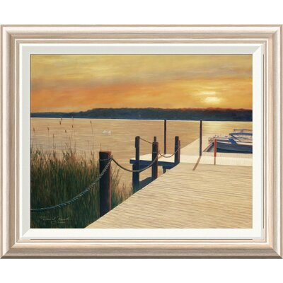 'Waterways' by Diane Romanello Framed Painting Print Size: 20