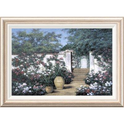 'Jardin de Fleur' by Diane Romanello Framed Painting Print GCF-393937-1624-282