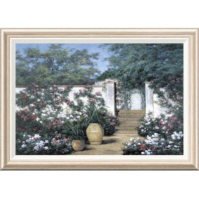 'Jardin de Fleur' by Diane Romanello Framed Painting Print GCF-393937-2030-282