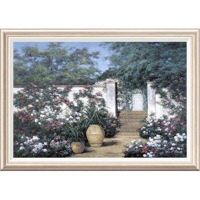 'Jardin de Fleur' by Diane Romanello Framed Painting Print GCF-393937-2436-282