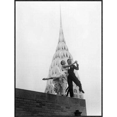 'Dancing by the Chrysler Building, 1930' Framed Photographic Print Size: 40