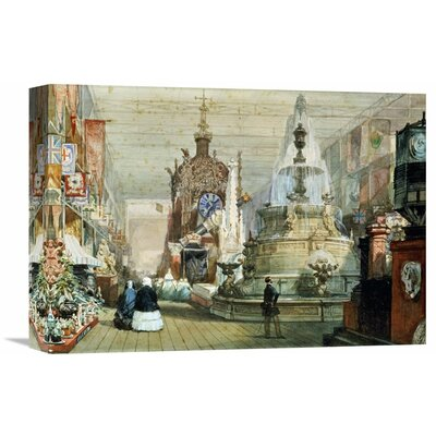 'The Great Exhibition Held in The Crystal Palace, London' by Eugene Louis Lami Painting Print on Wrapped Canvas Size: 15.4