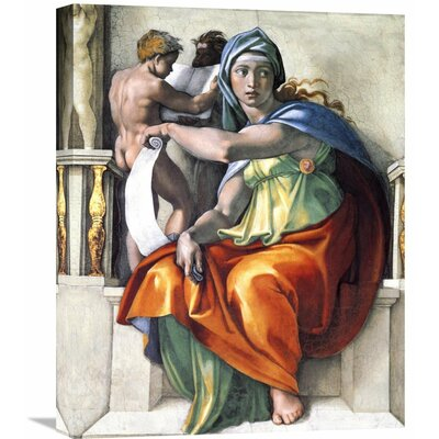 'The Delphic Sibyl' by Michelangelo Painting Print on Wrapped Canvas Size: 30