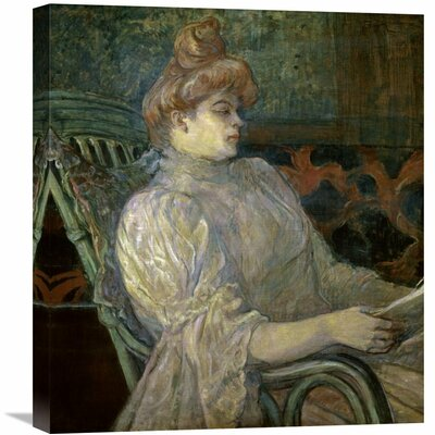 'Woman Reading (Femme Lisant)' by Henri Toulouse-Lautrec Painting Print on Wrapped Canvas GCS-278197-22-142