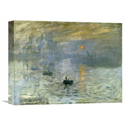 'Impression: Sunrise' by Claude Monet Painting Print on Wrapped Canvas GCS-278665-30-142