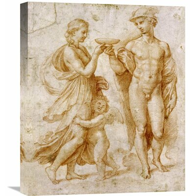 'Mercury Offering the Cup of Immortality to Psyche' by Raphael Painting Print on Wrapped Canvas GCS-265383-22-142