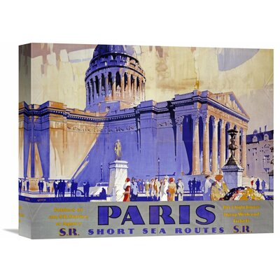 'Paris, Southern Railway' by Griffin Vintage Advertisement on Wrapped Canvas Size: 23.79
