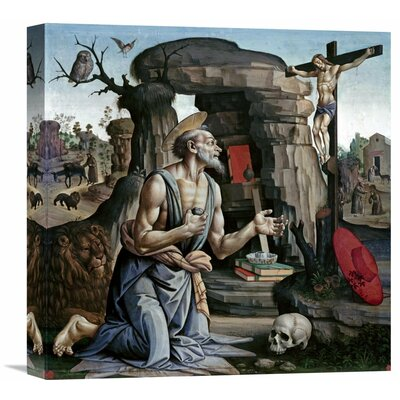 'Saint Jerome' by Bartolomeo Di Giovanni Painting Print on Wrapped Canvas Size: 22
