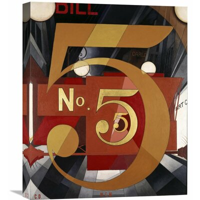 'The Figure 5 in Gold' by Charles Demuth Graphic Art on Wrapped Canvas Size: 30