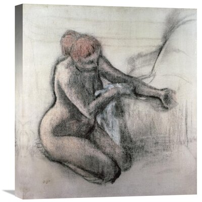 'Nude Woman Drying Herself after the Bath' by Edgar Degas Painting Print on Wrapped Canvas GCS-277331-30-142