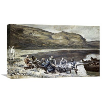 'Second Miraculous Draught of Fishes' by James Tissot Painting Print on Wrapped Canvas Size: 13.24