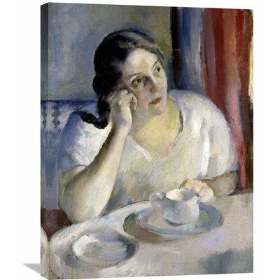 'A Cup of Tea La Tasse De Th' by Henri Ottmann Painting Print on Wrapped Canvas GCS-282647-22-142