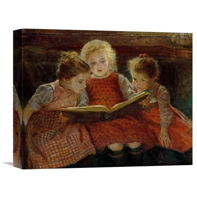 'A Good Book' by Walter Firle Painting Print on Wrapped Canvas Size: 29.16