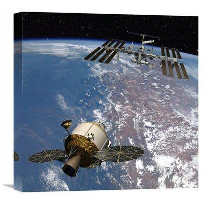 Orion Docking at the International Space Station, Project Constellation Photographic Print on Wrapped Canvas GCS-393580-1818-142
