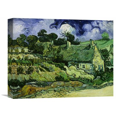 'House with Straw Ceiling, Cordeville' by Vincent van Gogh Painting Print on Wrapped Canvas GCS-281618-16-142