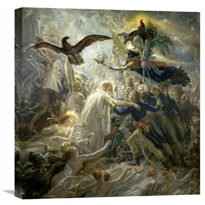 'The Shadows of the French Warriors Led by the Victory' by Anne Girodet de Roucy-Trioson Painting Print on Wrapped Canvas Size: 22