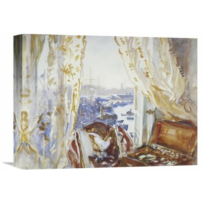 'View from a Window, Genoa' by John Singer Sargent Painting Print on Wrapped Canvas