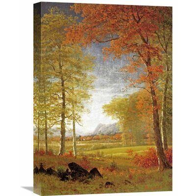 'Autumn in America, Oneida County, New York' by Albert Bierstadt Painting Print on Wrapped Canvas GCS-267717-22-142