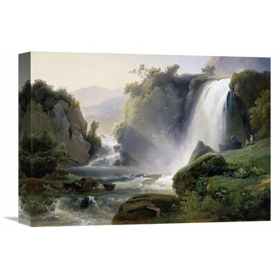 'Tivoli Waterfall' by Jean Charles Joseph Remond Painting Print on Wrapped Canvas Size: 25.81
