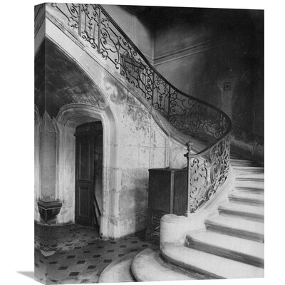 """'Paris, 1900 - Staircase, H�tel de Brinvilliers, Rue Charles V' by Eugene Atget Photographic Print on Wrapped Canvas Size: 22"""" H x 17.6"""" W x 1.5"""" D GCS-455114-22-142"""