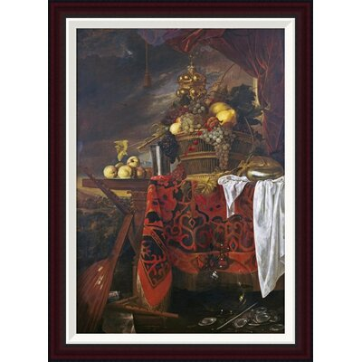 A Basket of Mixed Fruit with Gilt Cup by Jan Davidsz De Heem Framed Painting Print GCF-264784-30-288