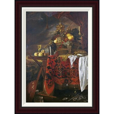 A Basket of Mixed Fruit with Gilt Cup by Jan Davidsz De Heem Framed Painting Print GCF-264784-22-288